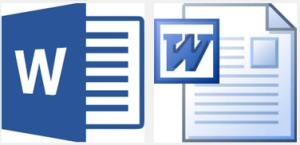 माइक्रोसॉफ्ट वर्ड फाइल फॉर्मेट विकल्प